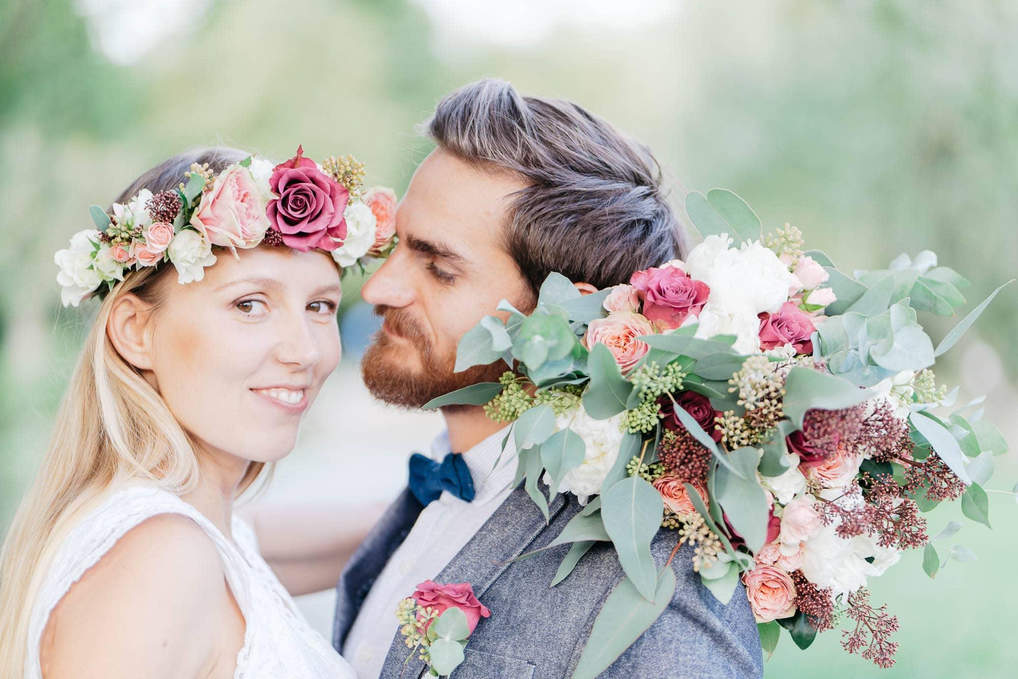 After Wedding Shooting in Stuttgart - Stadtpark Waiblingen mit Polina und Felix