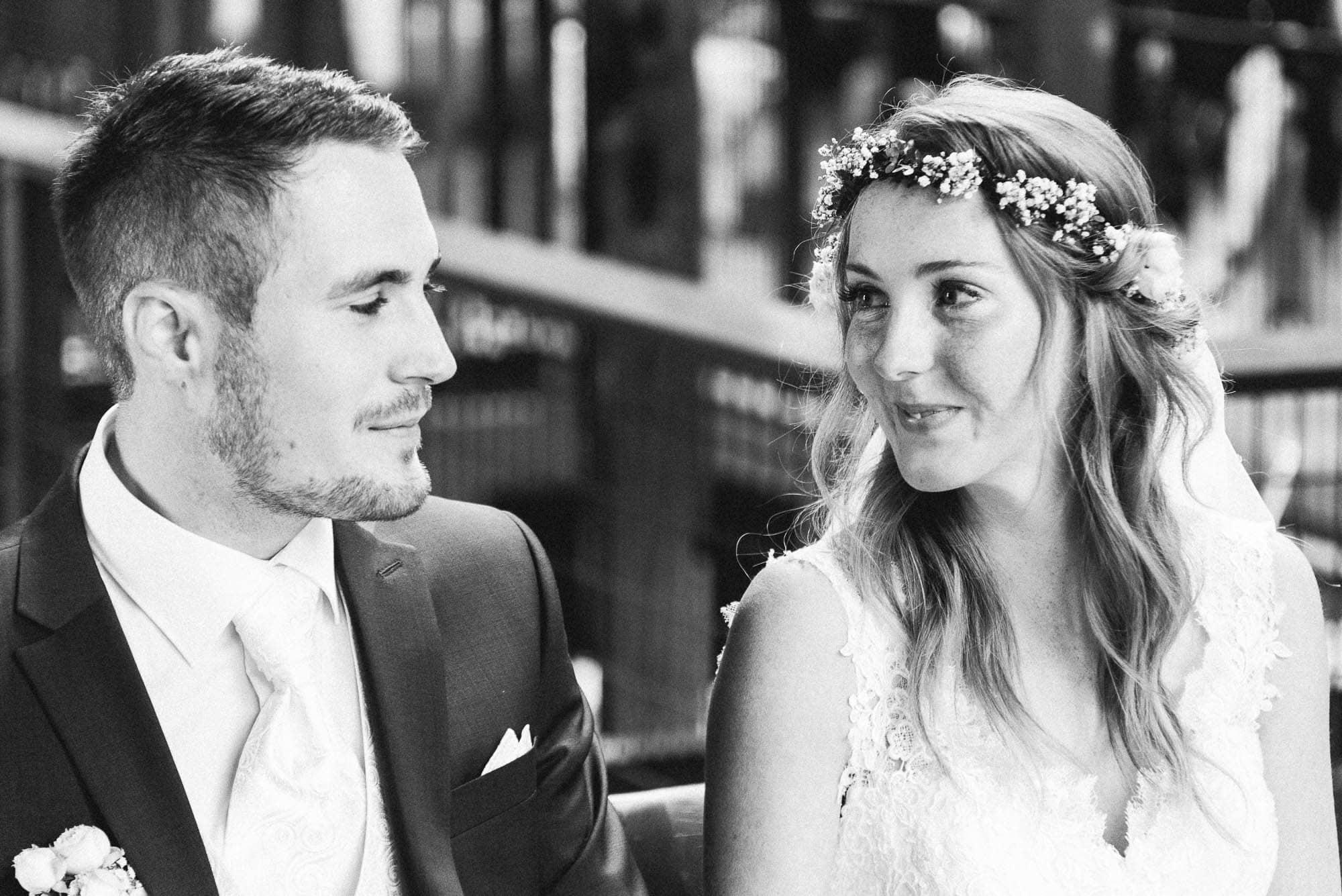 Hochzeit im Hotel Grenzhof in Heidelberg mit Steffi und Yannick - Freie Trauung