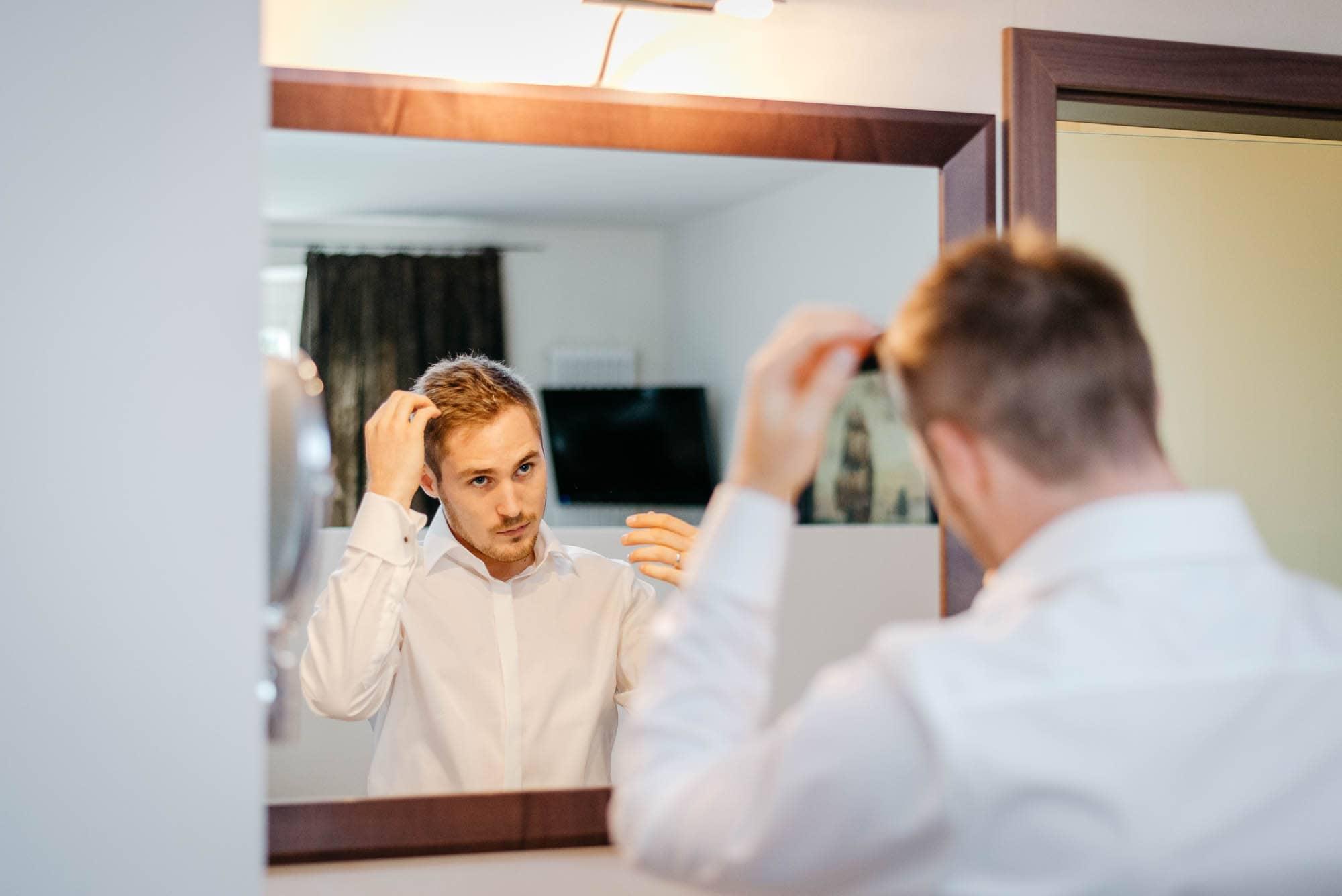 Hochzeit im Hotel Grenzhof in Heidelberg mit Steffi und Yannick - Getting Ready