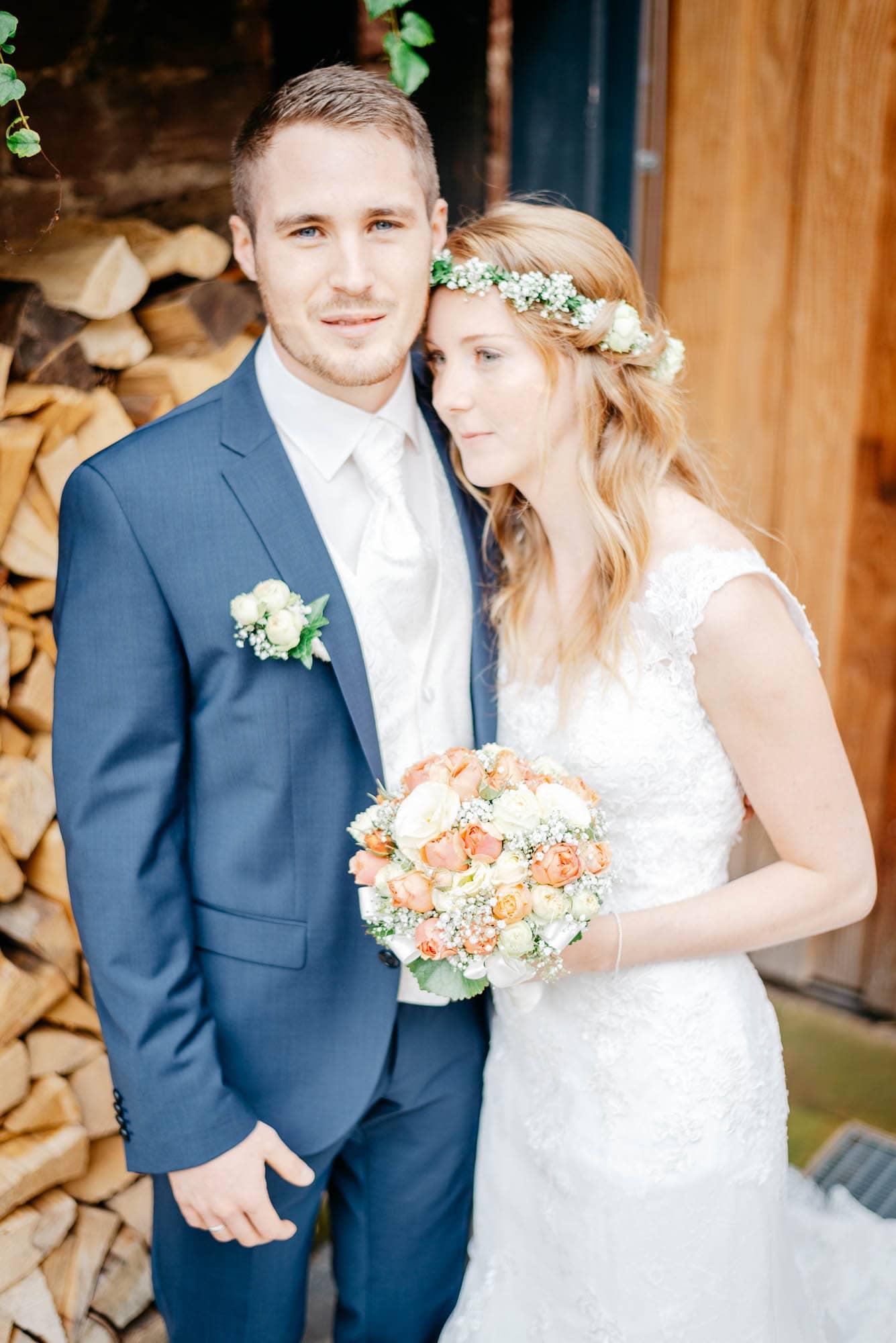 Hochzeit im Hotel Grenzhof in Heidelberg mit Steffi und Yannick - First Look